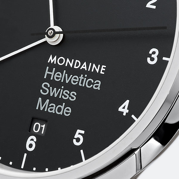 Mondaine - Helvetica No1 Regular - Armbåndsur - 40mm Sort/Sort - Norway Designs