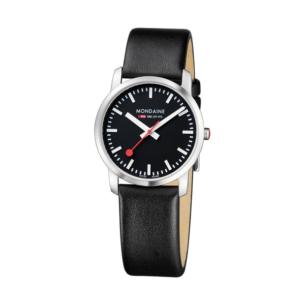 Mondaine - SBB - Simply Elegant - Armbåndsur - 36mm - Sort/Sort - Norway Designs