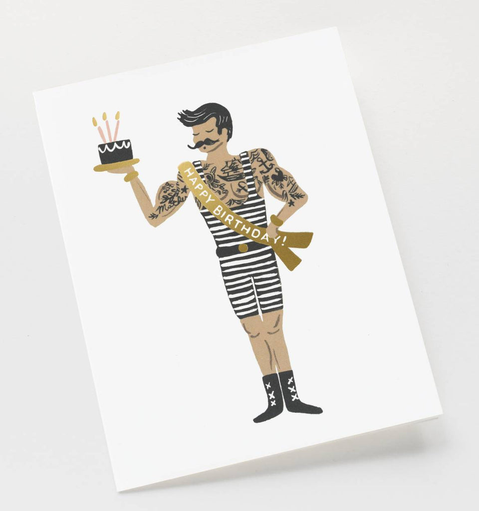"Rifle Paper Co. - ""Strongman Birthday"" Kort - Norway designs"