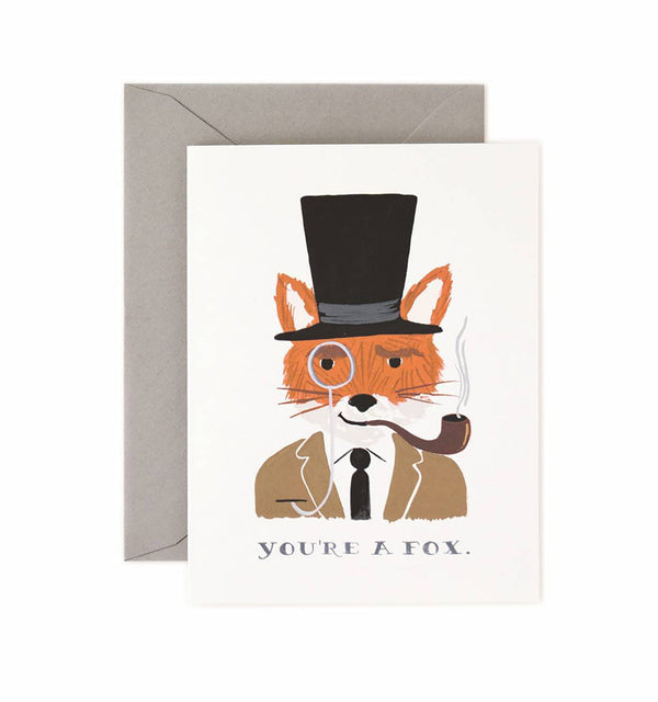 "Rifle Paper Co. - ""You're a Fox"" Kort - Norway Designs"