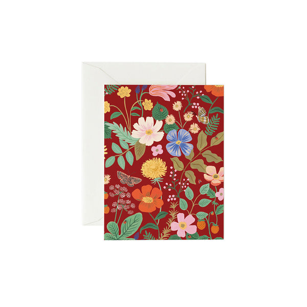 Rifle Paper Co. - Strawberry Fields Kort Red - Norway Designs