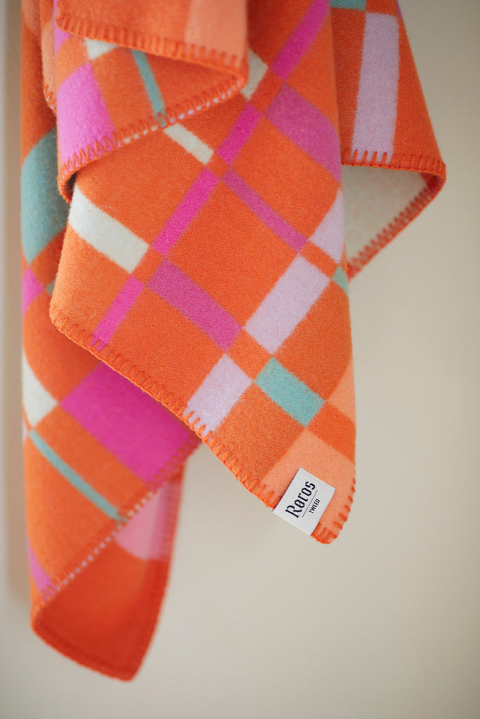 Røros Tweed City Babypledd Oransje - Norway Designs