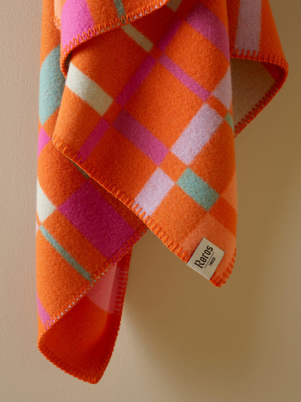 Røros Tweed City Mini Barnepledd Oransje - Norway Designs
