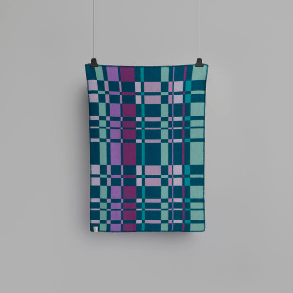 Røros Tweed City Mini Barnepledd Aqua - Norway Designs