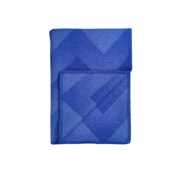 Røros Tweed Lynild Pledd Blue Throw - Norway Designs