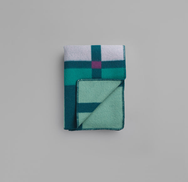 Røros Tweed - City Pledd Aqua - Norway Designs