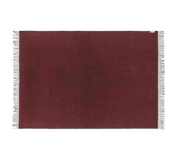 Silkeborg - Cusco pledd 100% Baby Alpaca Bordeaux - Norway Designs