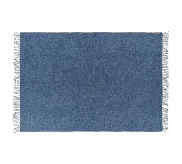 Silkeborg - Cusco pledd 100% Baby Alpaca Demin Blue - Norway Designs