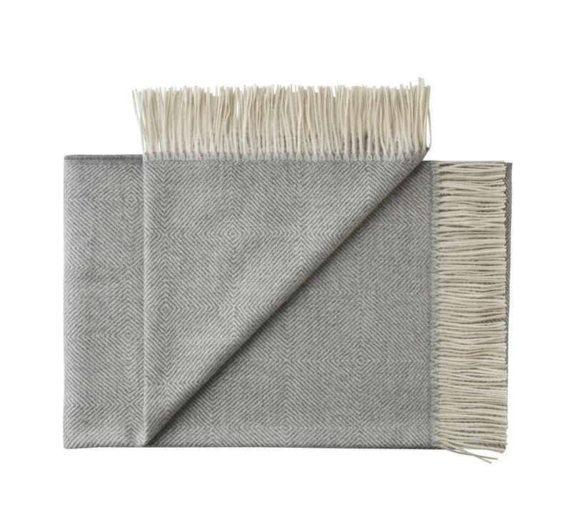 Silkeborg - La Paz Pledd 100% Baby Alpaca Light Grey - Norway Designs