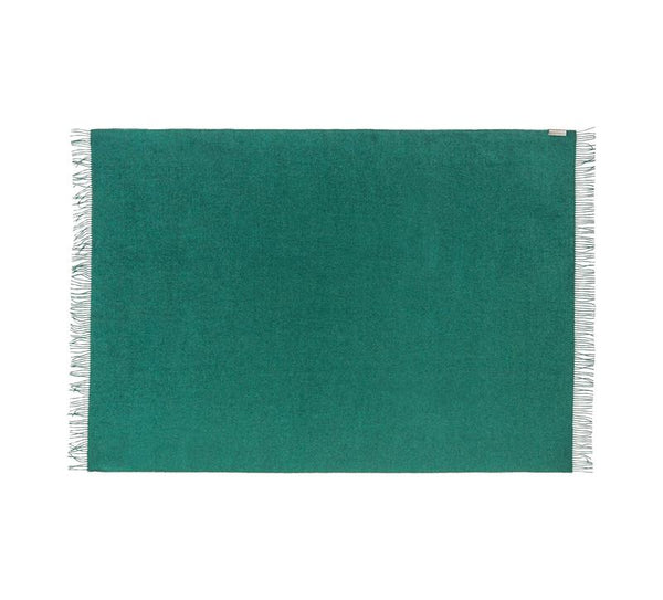 Silkeborg - Lima pledd 100% Baby Alpaca Dark Green -Norway Designs