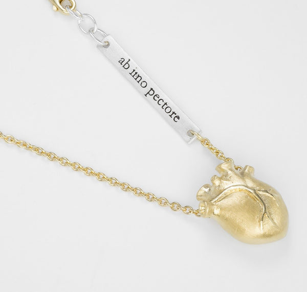 Bjørg Anatomic Heart Gold Medium 45cm Forgylt - Norway Designs