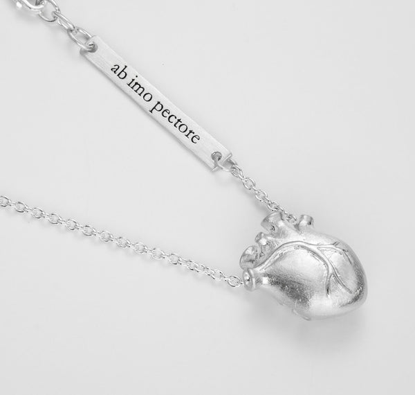 Bjørg Anatomic Heart Silver Medium 45cm Sølv - Norway Designs