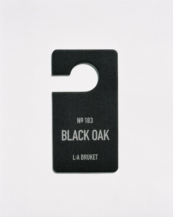 L:A Bruket Fragrance Tag Black Oak no.183