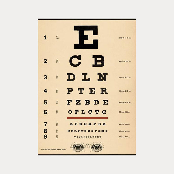 Cavallini & Co. Plakat No.07 Eye Chart 50x70cm - Norway Designs