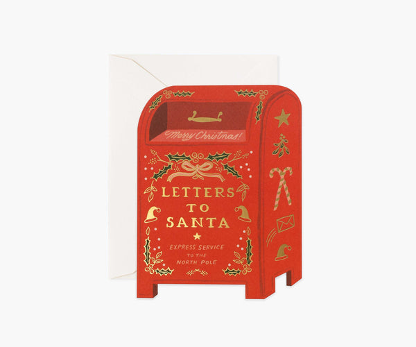 Rifle Paper Co Julekort 14x11cm - Letters To Santa Card - Norway Designs
