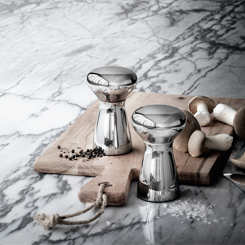 Georg Jensen Alfredo Salt & Pepperkvern Liten Blankt Stål - Norway Designs