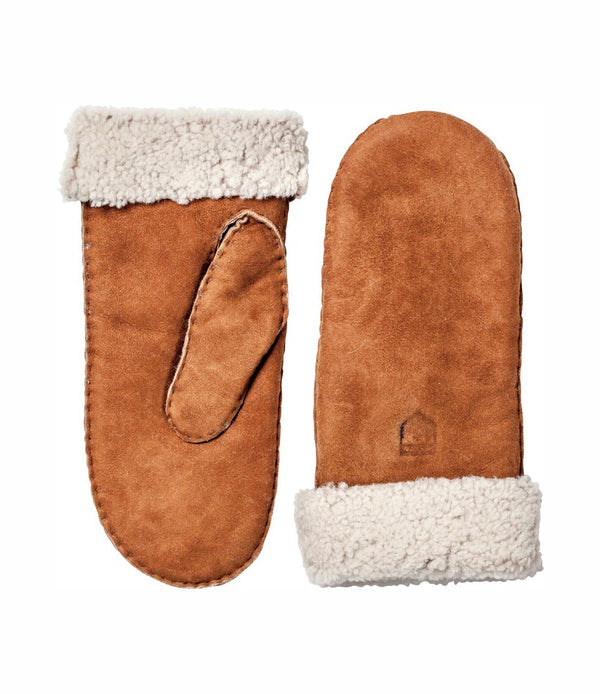 Hestra - Sheepskin Mitt Votter Cork - Norway Designs