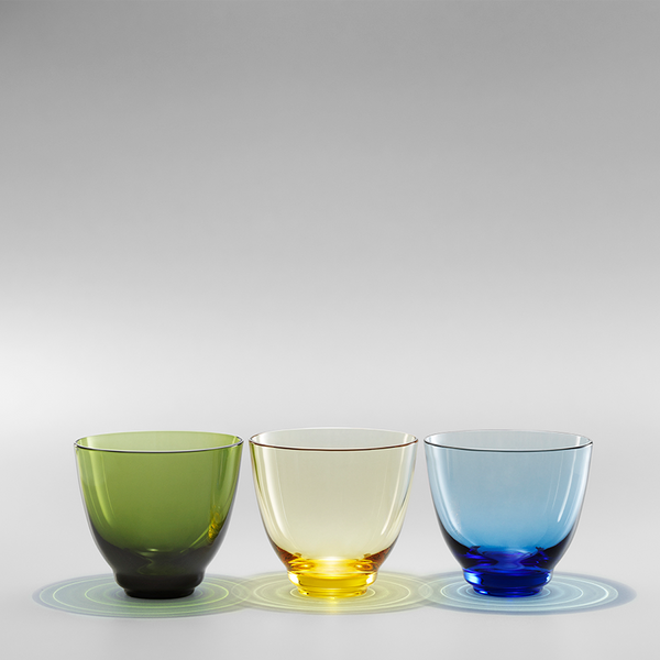 Holmegaard - Flow Drikkeglass Olivengrønn - Norway Designs