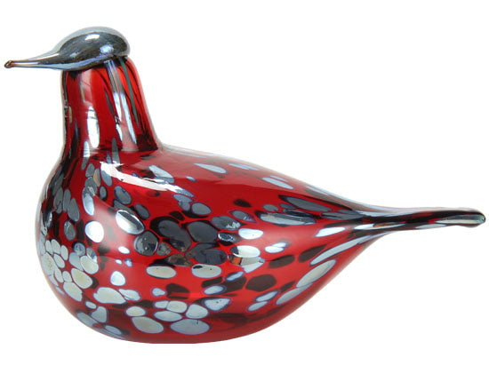 Iittala Glass Skulpturer Birds by Toikka Rødsnipe 21x13cm - Norway Designs