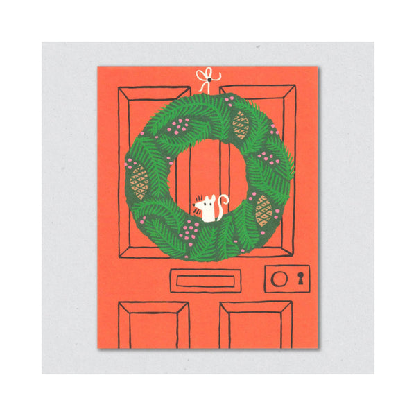 Lisa Jones Studio - Julekort Christmas wreath - Norway Designs