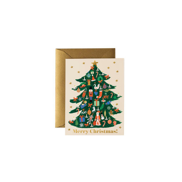 Rifle Paper Co - Julekort Trimmed Tree - Norway Designs