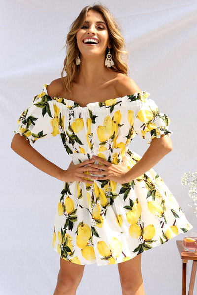 Emery Dress - Lemon