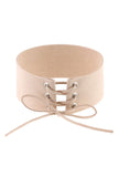 XENA TIE UP CHOKER - NUDE - Stunner Boutique