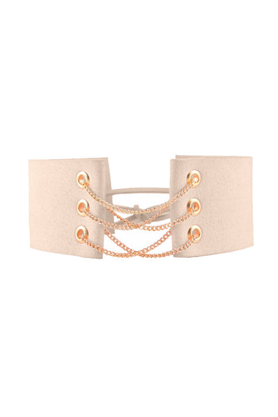 QUEENIE CHAIN CHOKER - NUDE