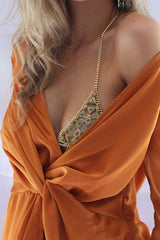 ATHENS METAL BRALETTE - GOLD - Stunner Boutique  - 5