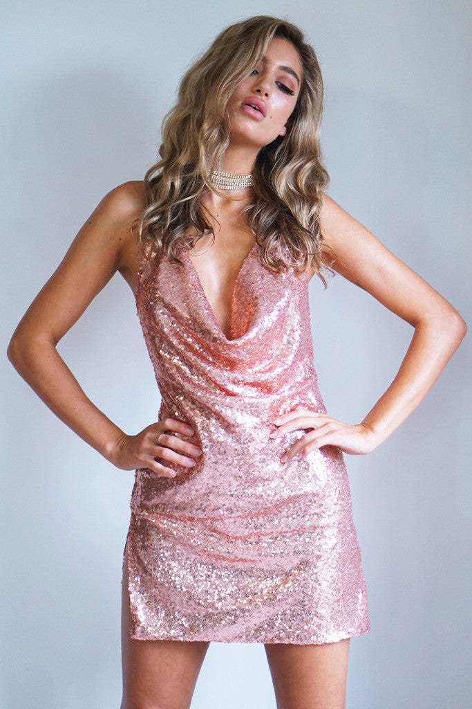 KENDALL DRESS - ROSE GOLD - Stunner Boutique  - 2