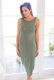PREMONITION DESIGNS - FLUME DRESS IN KHAKI - Stunner Boutique  - 1
