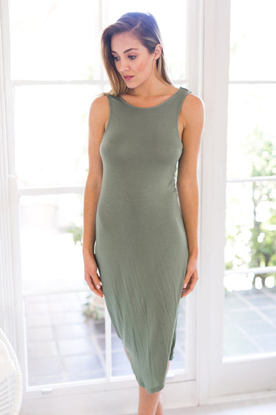 Premonition Designs - Flume Dress in Khaki