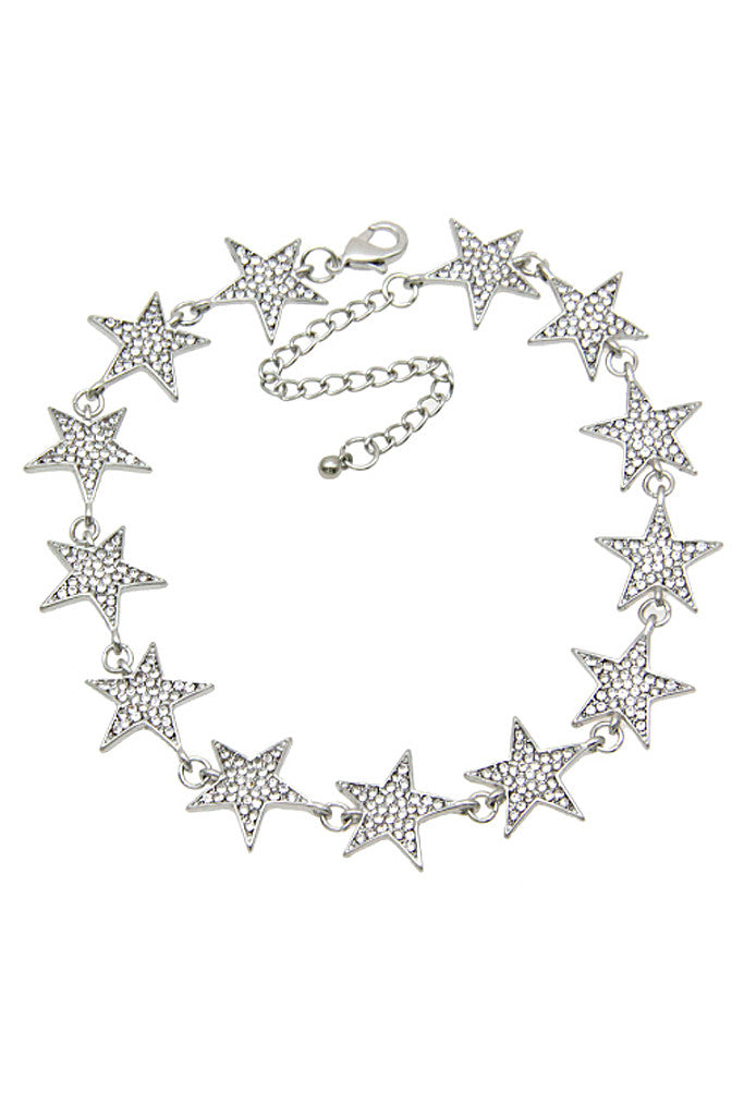 STAR GAZE CHOKER - SILVER - Stunner Boutique