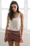 SAIL AWAY SHORTS IN WINE - Stunner Boutique  - 2