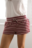 SAIL AWAY SHORTS IN WINE - Stunner Boutique  - 1
