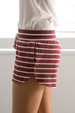 SAIL AWAY SHORTS IN WINE - Stunner Boutique  - 3