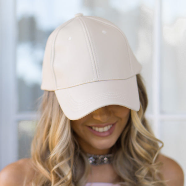 AVERY FAUX LEATHER CAP - Stunner Boutique  - 2