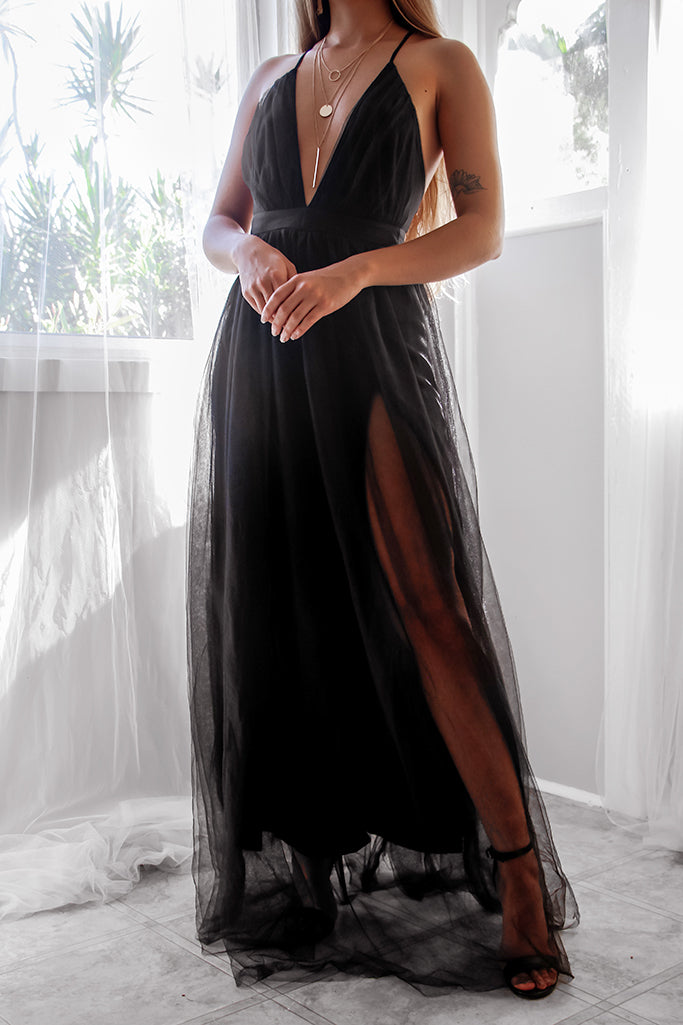 Crossfire Gown - Black