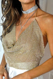 CRYSTAL JEWELED TOP - GOLD