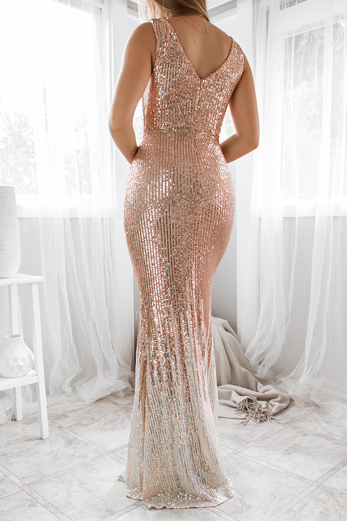 Alessia Sequin Gown