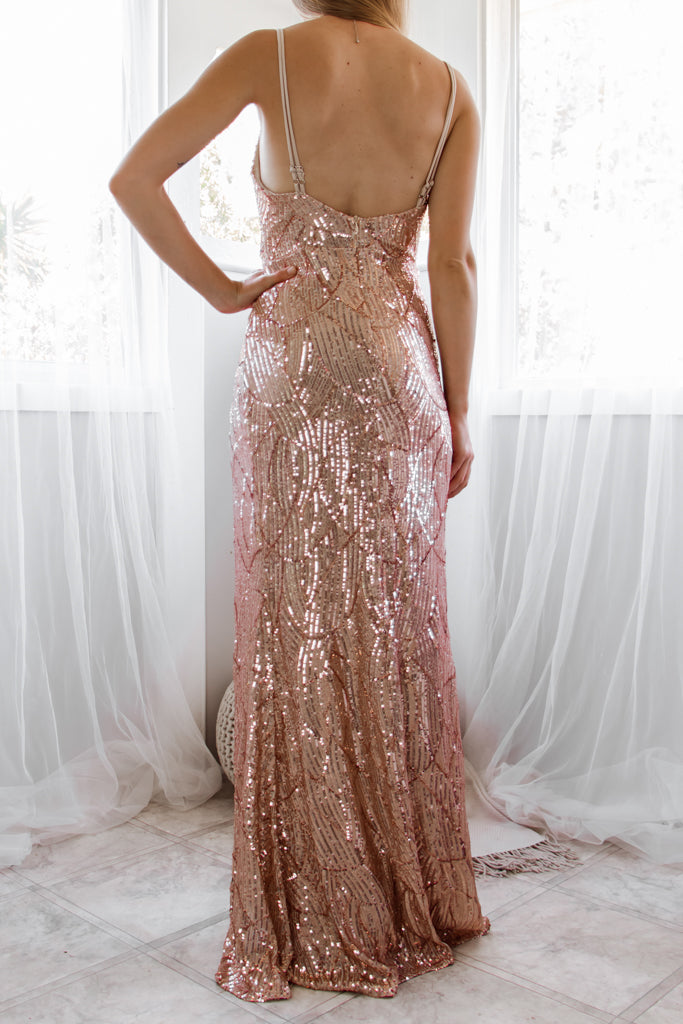 Giovani Sequin Gown