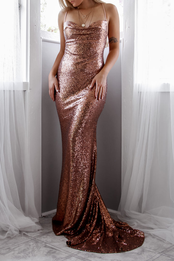 Estelle Sequin Gown