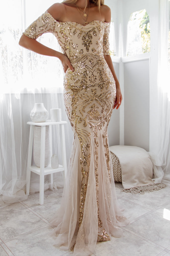 Adeline Sequin Gown