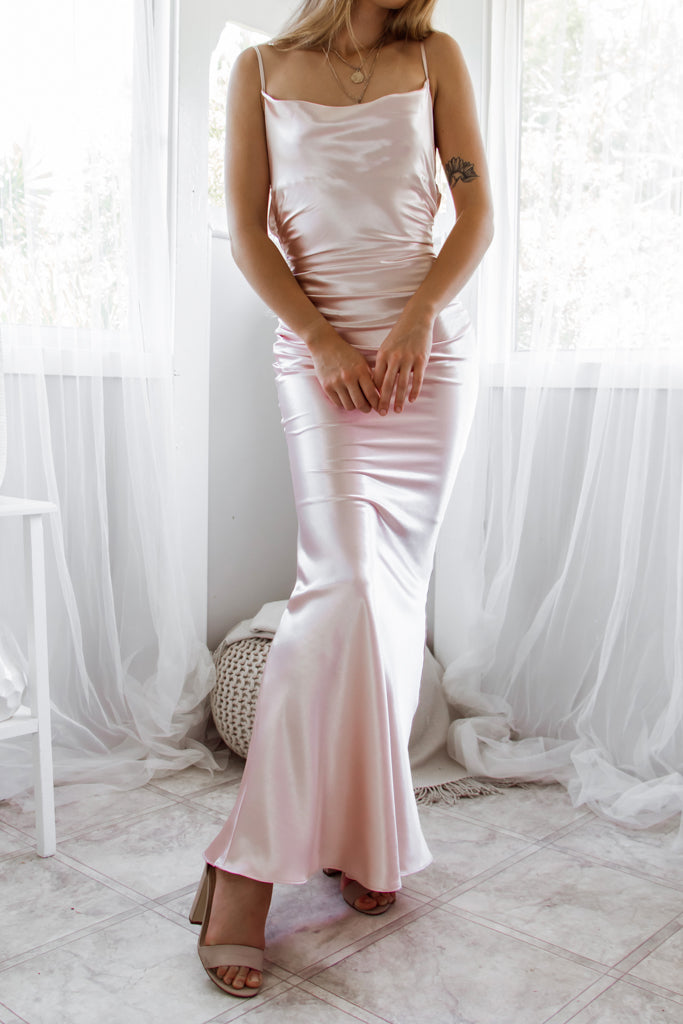 Imogen Gown - Pale Blush
