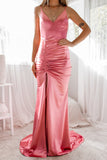 Jasmine Satin Gown - Blush