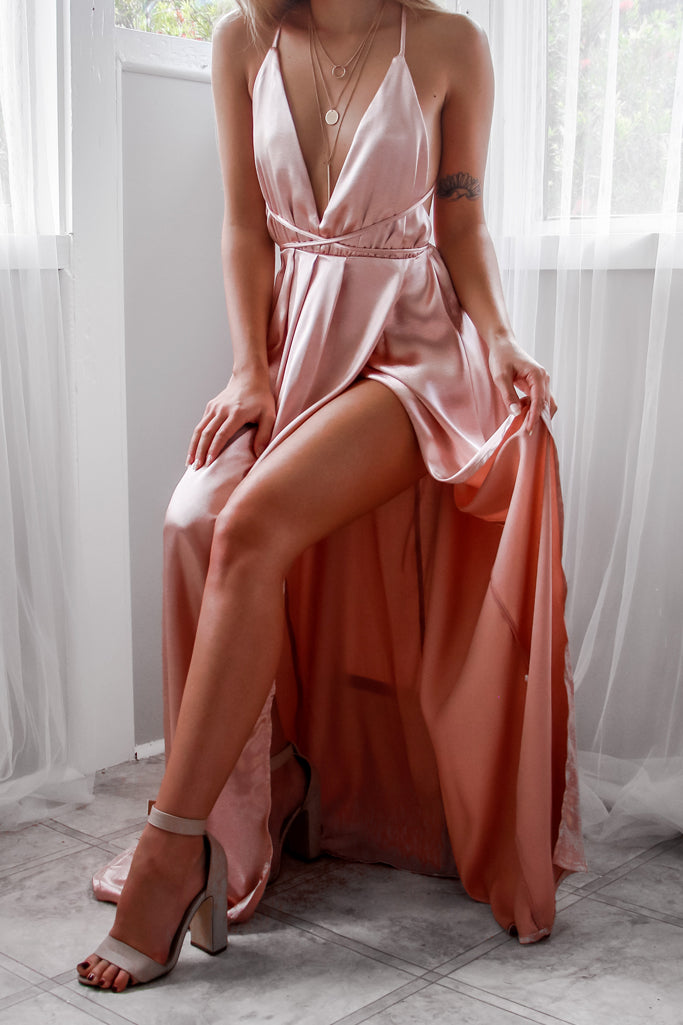 Everly Satin Gown