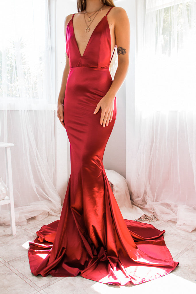 Sasha Satin Gown