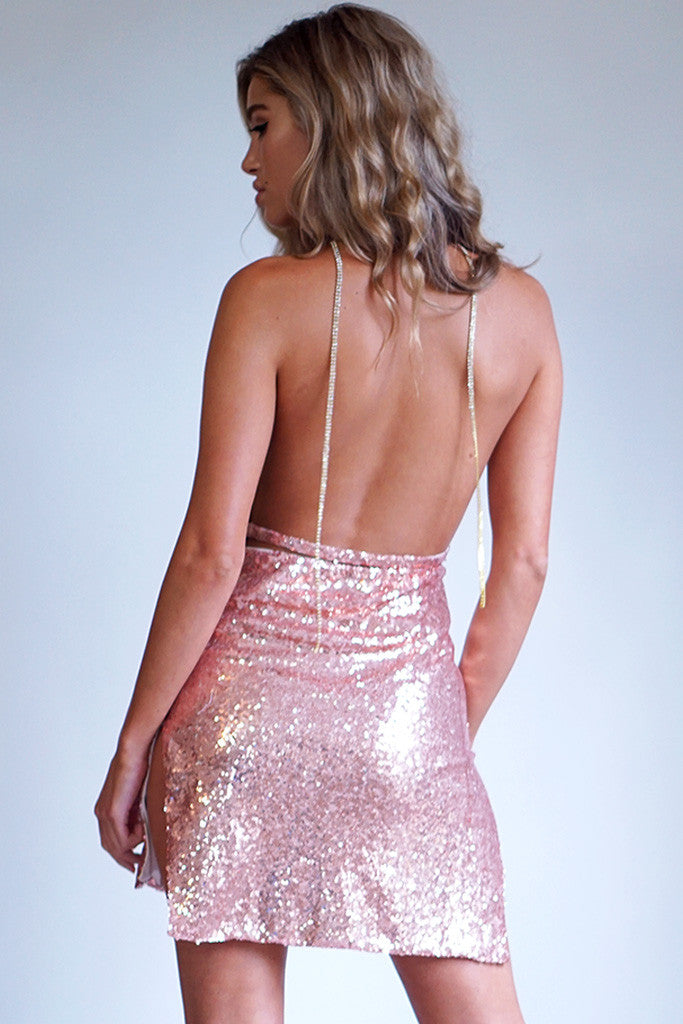 KENDALL DRESS - ROSE GOLD - Stunner Boutique  - 3