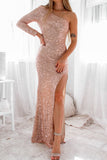 Coletta Sequin Gown - Rose Gold