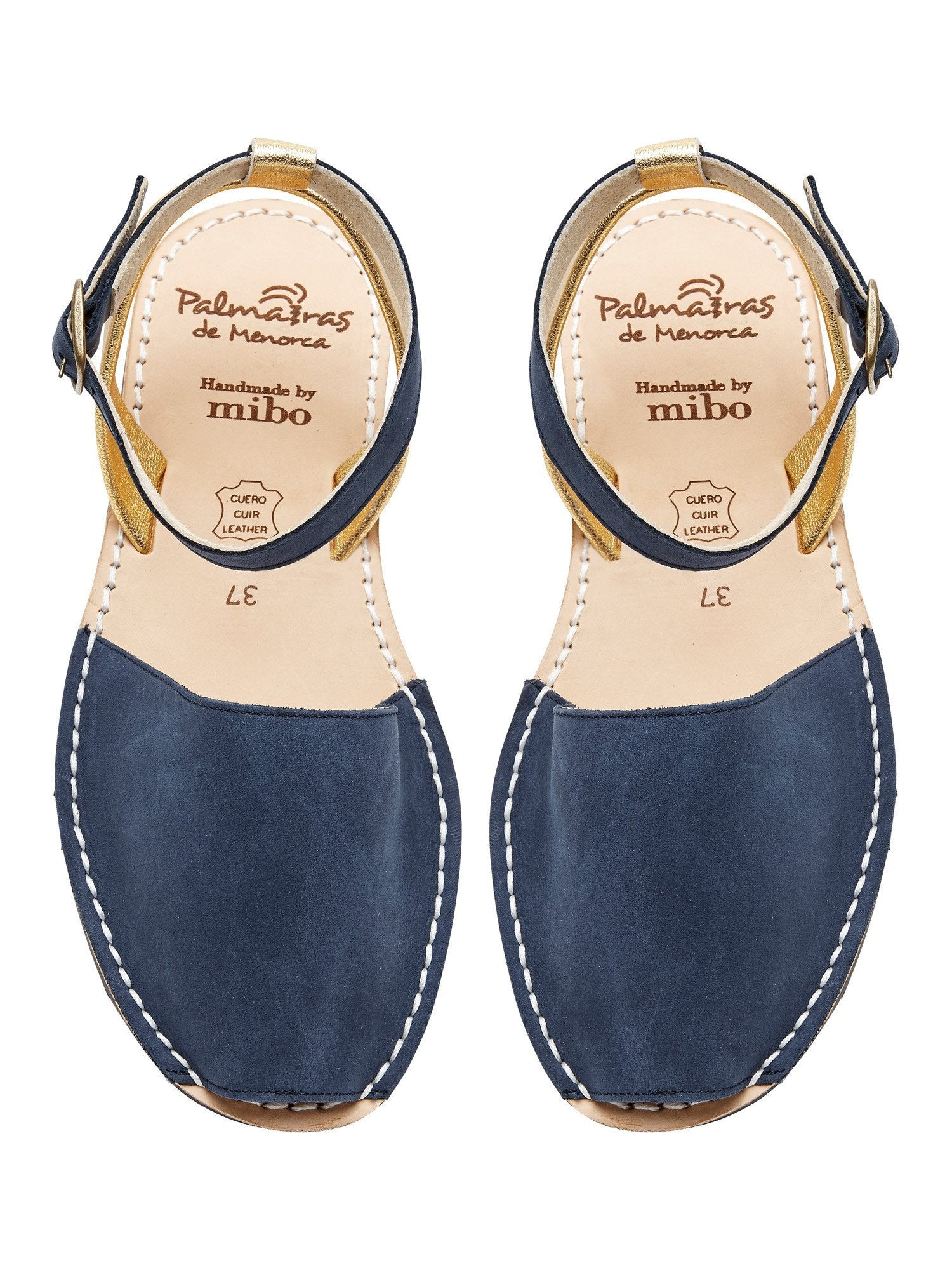 Palmaira Sandals Australia Navy & Gold Multiway